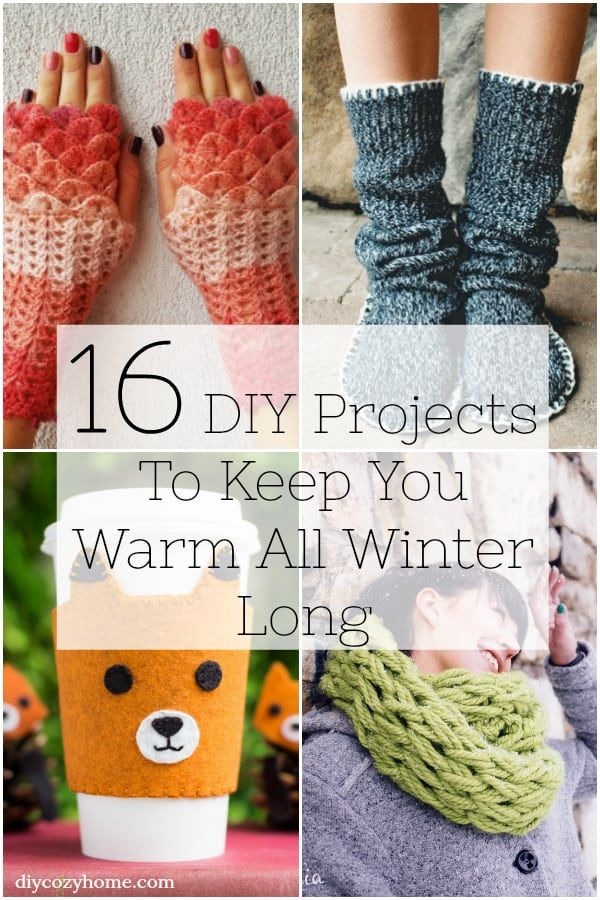 16 DIY Projects That Will Keep You Warm All Winter Long #crochet #cozy