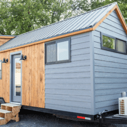 32ft Tiny Home With A Unique Lifted Living Area