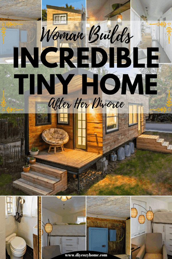 Woman Builds Incredible Tiny Home After Her Divorce #tinyhouse #tinyhomeonwheels