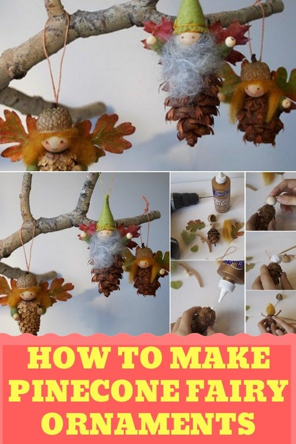 How To Make Pinecone Fairy Ornaments #pineconecrafts #fairycraftideas