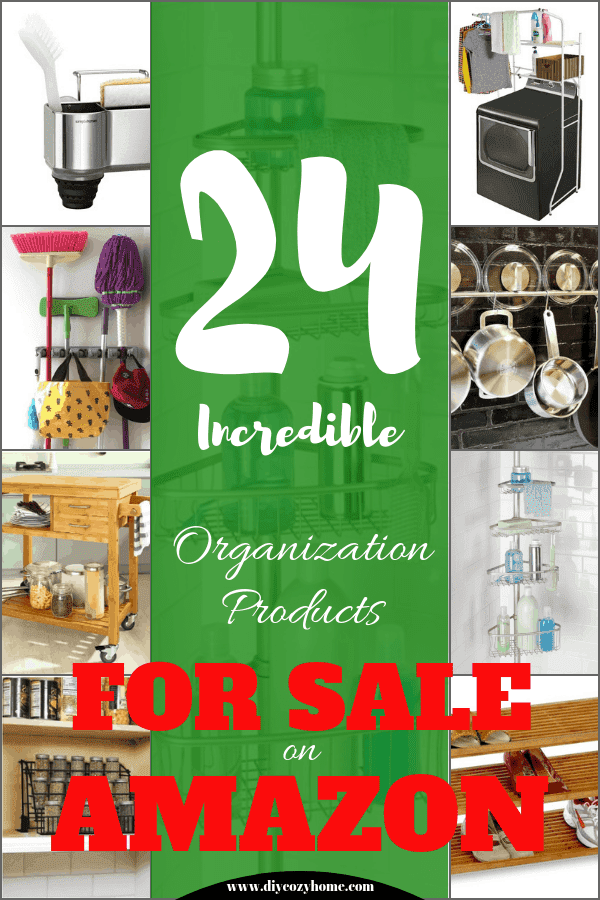 24 Incredible Organization Products For Sale On Amazon #organization #organizedhome