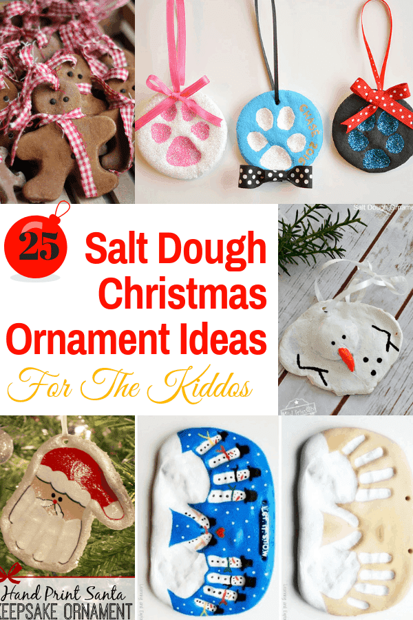 25 Salt Dough Christmas Ornament Ideas for The Kiddos #christmascrafts #diy