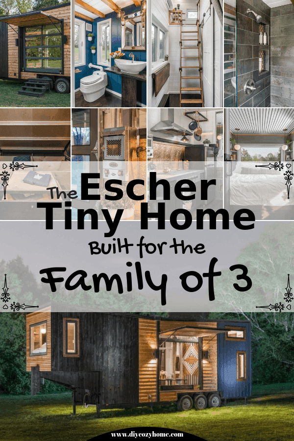 The Escher Tiny Home Built For A Family of Three #tinyhome #tinyhouse