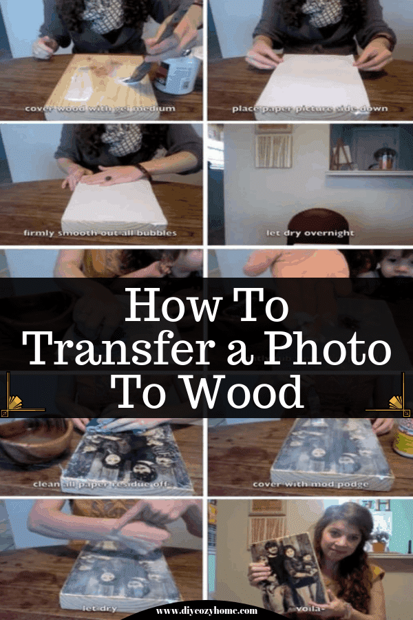 How To Transfer A Photo To Wood #diy #familycrafts
