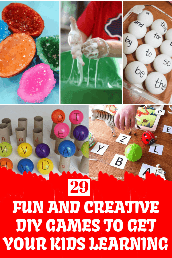 29 Fun And Creative DIY Games To Get Your Kids Learning #diygames #educationalcrafts