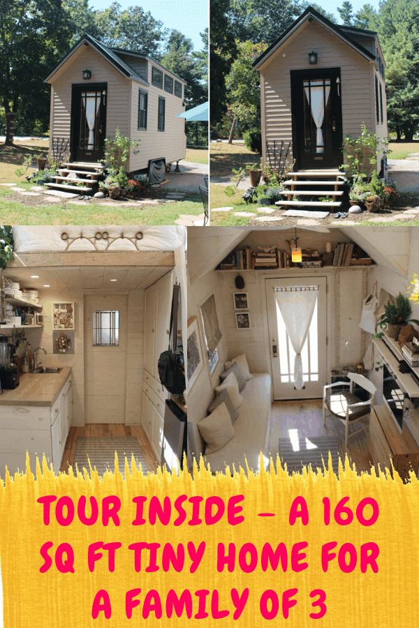 Tour Inside - A 160 Sq Ft Tiny Home For A Family of 3 #tinyhomefamily #tinyhousebuild #thow