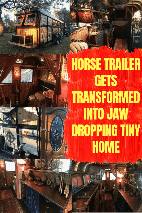 Horse Trailer Gets Transformed Into Jaw Dropping Tiny Home #tinyhome #horsetrailerconversion