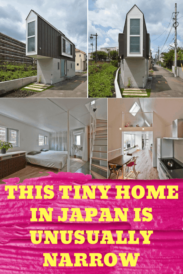 This Tiny Home In Japan Is Unusually Narrow #japantinyhome #narrowjapanhouse #uniquetinyhouse