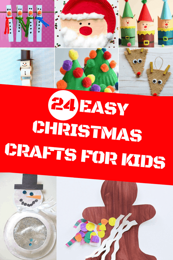 24 Easy Christmas Crafts For Kids #christmascrafts #holidaykidscrafts