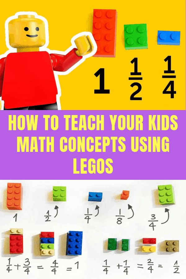 How To Teach Your Kids Math Concepts Using Legos #homeschool #lego #educationalcrafts