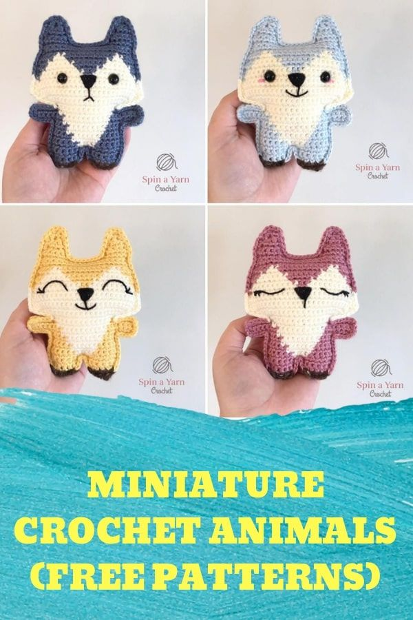 Miniature Crochet Animals (Free Patterns) #amigurumi #freecrochetpatterns