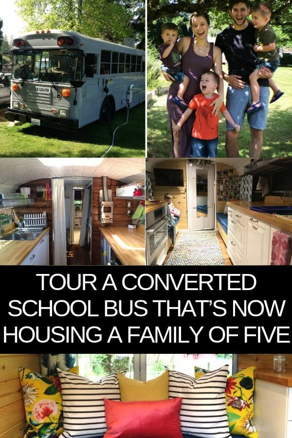 Tour A Converted School Bus That's Now Housing a Family of Five