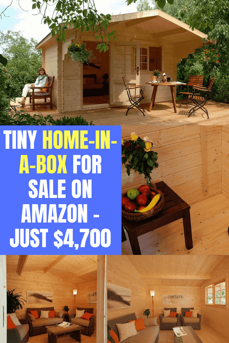 Tiny Home-In-A-Box For Sale On Amazon - Just $4,700 #kithome #tinyhomeinabox #amazoncabin