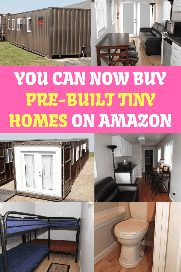 You Can Now Buy Pre-Built Tiny Homes On Amazon #containerhome #diy #tinyhome #amazontinyhome