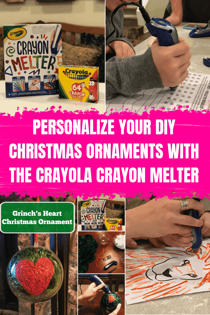 Personalize Your DIY Christmas Ornaments With The Crayola Crayon Melter #crayonmelter #grinchheart #diyornament