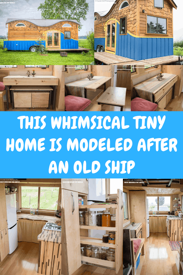 This Whimsical Tiny Home Is Modeled After an Old Ship #tinyhouseonwheels #tinyhome