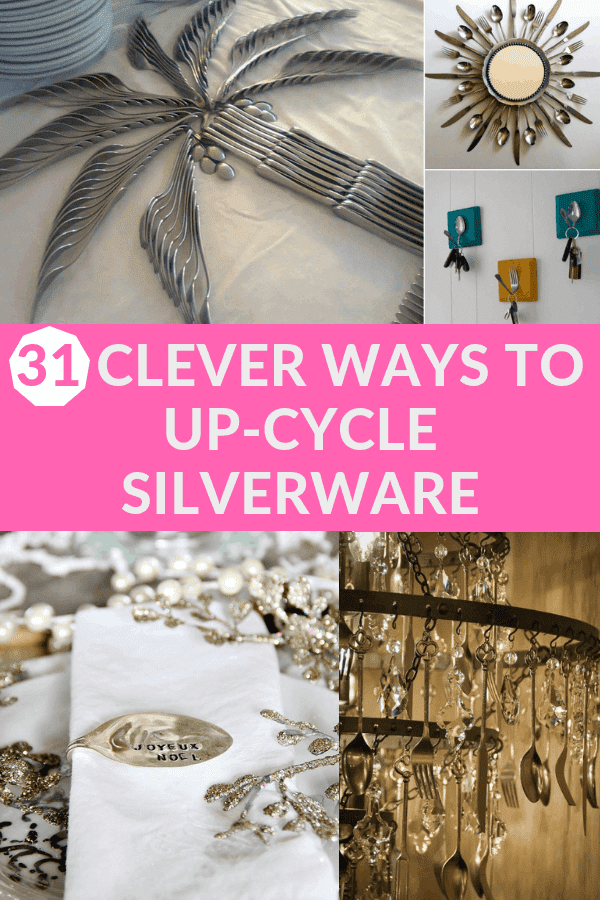 31 Clever Ways To Up-cycle Silverware #silverwarecrafts #upcyclesilverware