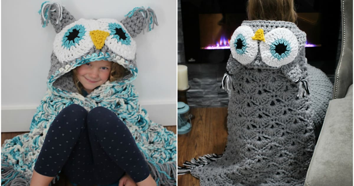 The Cutest Crochet Owl Blanket Ever