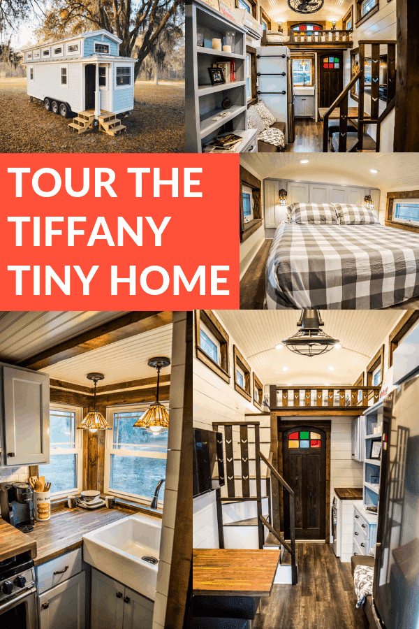 Tour The Tiffany Tiny Home - this stunning tiny home is one of my all time favorites! #tinyhome #tiffanytinyhouse #smallhome #tinyhouse
