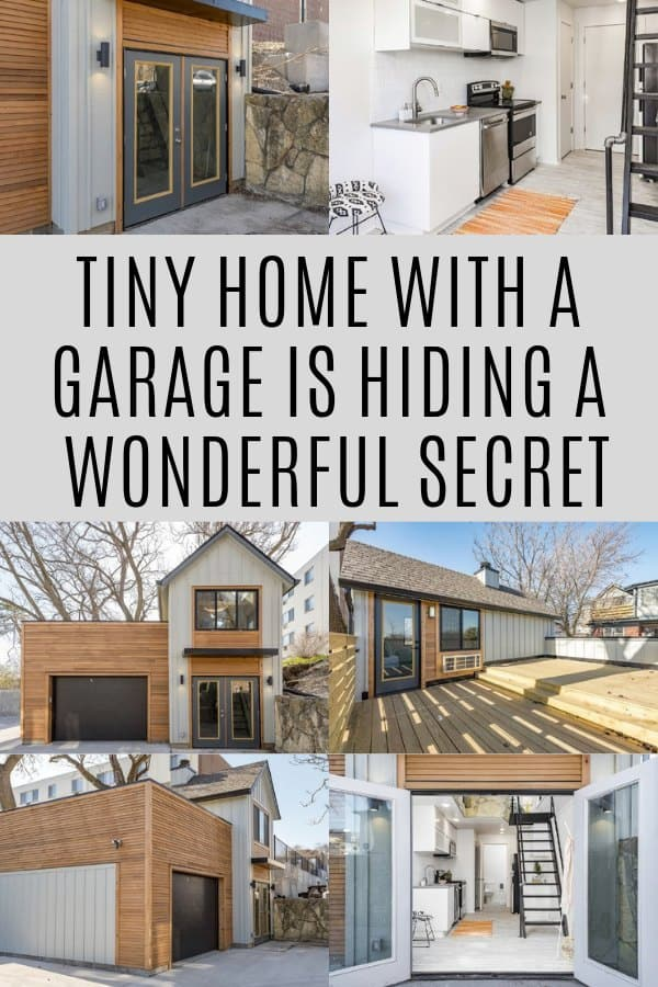 Tiny Home With A Garage Is Hiding A Wonderful Secret