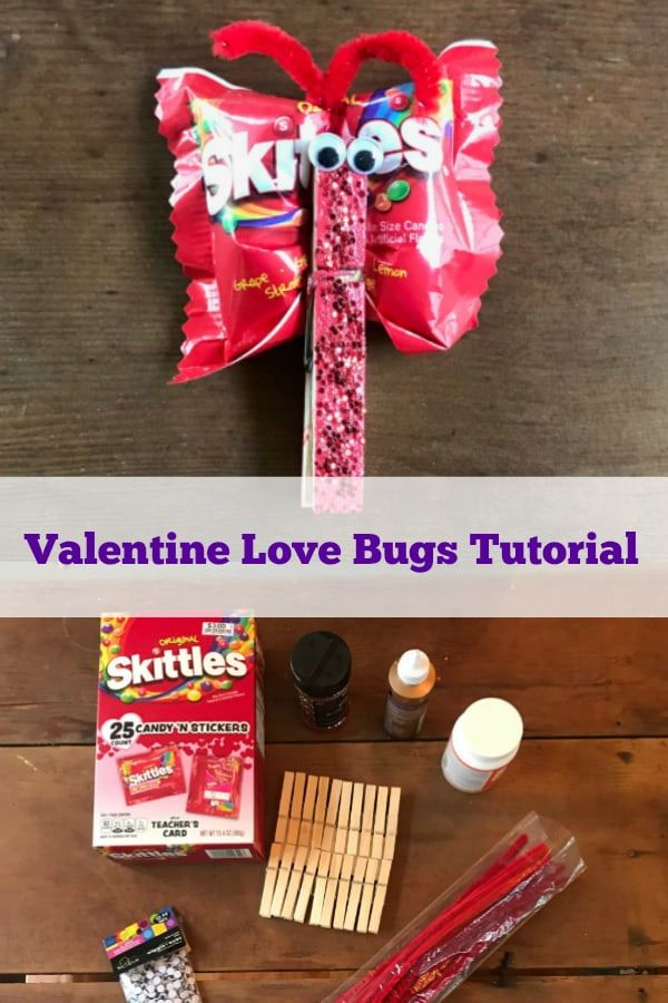 How to make adorable Love Bugs for Valentine's day #valentinesday #valentinescrafts #lovebugs #butterflyvalentine