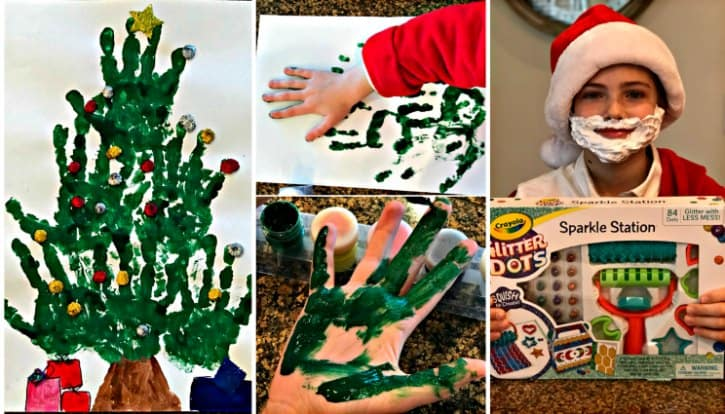 hand print christmas tree craft
